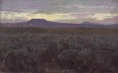 Lot Description William Herbert Dunton (1878-1936) Desert Sunset signed 'Dunton' (lower right)--inscribed with title (on the reverse) oil on canvas laid down on board 5 x 8 in. (12.7 x 20.3 cm.) Painted in 1923.