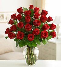 Because your loved one deserves a gift twice as romantic, send two dozen long-stem red roses, a fresh and fabulous bouquet beautifully arranged by our select florists in a classic glass vase. 800 Flowers, Flowers For You, Flowers Vase, Send Roses, Orquideas Cymbidium, Dozen Red Roses, Types Of Roses, Valentines Flowers, Valentine Bouquet