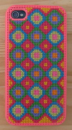 Pink Buttonz iPhone 4 Cross Stitch Case Kit