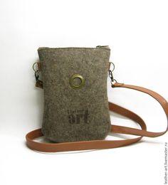 ba9fa1d5f27d Купить Войлочная сумка Планшетка- малышка - серый, войлок, войлочная сумка,  женская сумка