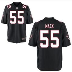 Men's Atlanta Falcons #55 Alex Mack Black Alternate NFL Nike Elite Jersey