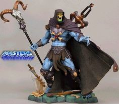 "NECA Masters of the Universe MOTU 15"" SKELETOR Statue - Artist Proof, Red Ruby"
