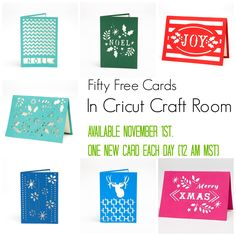 Just in time for the #holiday #Free Cricut Craft Room #Cards Week One