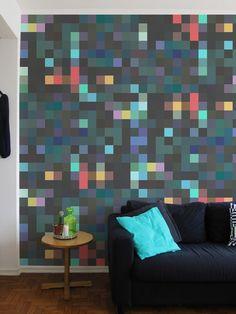 Papel de Parede Adesivo Pixel Charme   Collector55 - Collector55