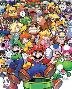 Mario Bros Family
