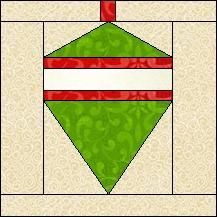 Block of Day for December 07, 2016 - Ornament-foundation/paper piecing-The pattern may be downloaded until:Saturday,  December 31, 2016.