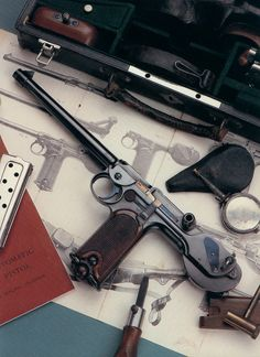 The Borchardt C-93 Automatic Pistol. One of the very first automatic pistols. Made in Germany before 1900.