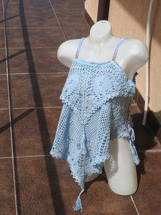 Crocheted blouseWomen handmade lace blouseMori Girl by JadAngel