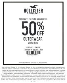 hollister 50 off outerwear printable coupon