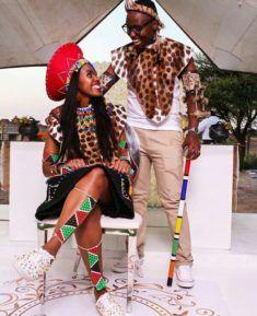 Lovely Couple In Zulu Traditional Wedding Attire