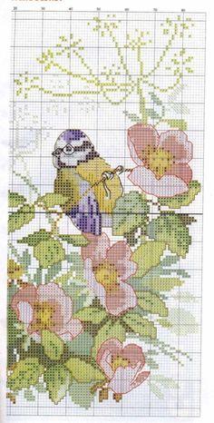 (6) Gallery.ru / Photo # 2 - 3 birds on flowers - Olsha