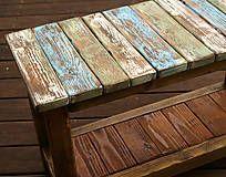 Nábytok - Patinovaná lavička - 4983882_