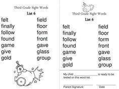 9+ 4Th Grade Sight Words Worksheets - Grade - Printable-sheets.com 4th Grade Sight Words, Sight Words List, Sight Word Worksheets, Third Grade, Printable, List Of Sight Words