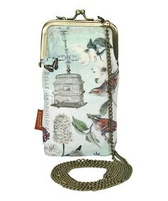 Love this Blue Birdcage Smartphone Purse by Passion for Fashion on #zulily! #zulilyfinds