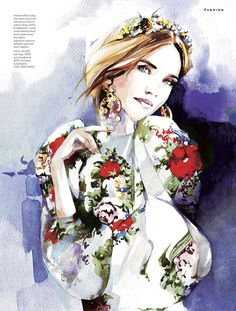 Illustration by Petra Dufkova in Stylist magazine December 2012