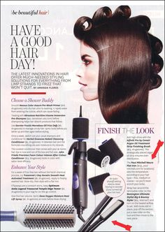 If you want to have a good hair day, Latina Magazine recommends using the Paul Mitchell Neuro Smooth to finish your look.