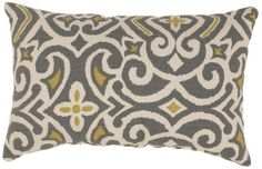 Pillow Perfect Gray/Greenish-Yellow Damask Rectangular Throw Pillow Pillow Perfect http://www.amazon.com/dp/B0093ZG908/ref=cm_sw_r_pi_dp_1DzPtb03B36DZR4B