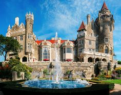 "Casa Loma in Toronto Ontario, Canada was an interesting look into a ""modern"" castle. It was under construction with wedding preparations in progress so we didn't get pristine pics like this. Oh The Places You'll Go, Places To Travel, Places To Visit, Canada Vancouver, Montreal Canada, Toronto Travel, Visit Toronto, Toronto Vacation, Bon Voyage"