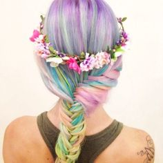 hair chalk ideas for brown hair