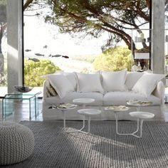 canap 3 places et housse blanc voil canap structure en h tre massif coussins d 39 assise en. Black Bedroom Furniture Sets. Home Design Ideas