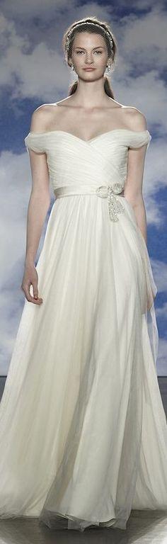 I love Jenny Packham dresses, but here I love that sparkly sash! Bridal Spring 2015 collection