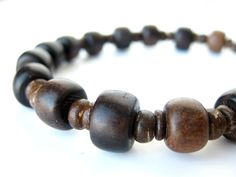 Wood bead bracelet for men - mens jewelry - Wooden Stutter. $18.00, via Etsy.