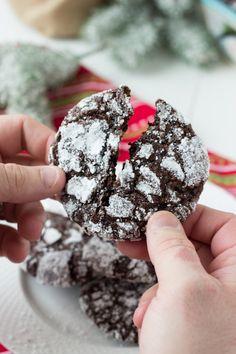Chocolate Crinkle Cookies - deep chocolate flavor with a moist gooey ...