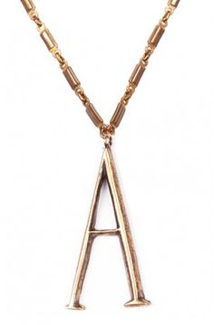 The Plaza Letter Necklace A by @Lulu Frost for $360 is the perfect accessory and gift #lulufrost #necklaces #giftideas