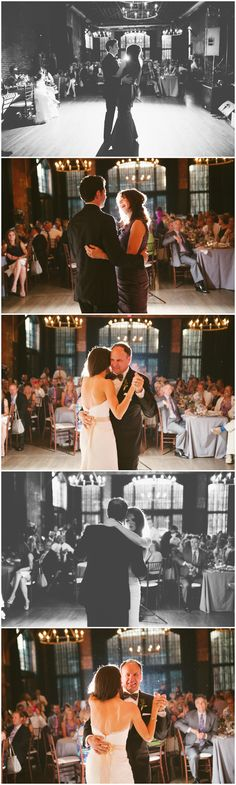 Father Daughter and Mother Son Dance. High Line Car House. Reception details. Columbus Ohio Wedding Photography. Ashley West Photography.