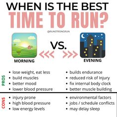 It's the question all beginner runners ask.  Which is best?  A morning run or an evening run?  The decision is not all about preference.  There are scientific factors that come into play as well.  The post Morning Run vs Evening Run: Which is best? appeared first on Run Strong Run.