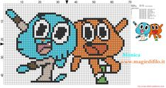 Gumball & Darwin - The Amazing World of Gumball pattern by Monica