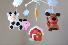 Farm Mobile Baby Crib Mobile Baby Mobile by dropsofcolorshop