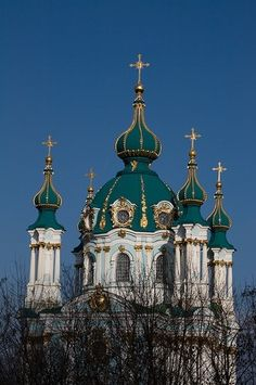 Saint Andrew's Church, Kiev, Ukraine by glenna