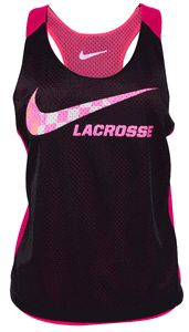 Nike Reversible Women's Lacrosse Tank - Black/Pink