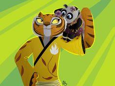 Strong Stripy Baby (Kind of, sort of, almost drawn like SotS Tigress. Tigress Kung Fu Panda, Po And Tigress, Kids Cartoon Characters, Cartoon Kids, Disney Characters, Dragon Warrior, Dreamworks Animation, Tigger, Comfort Zone