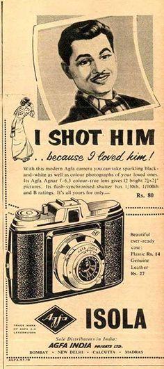 Agfa cameras, 1950's India