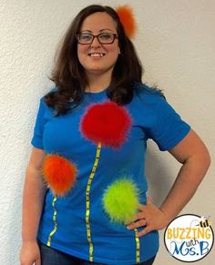 DIY Truffula trees shirt for Read Across America Week! Everything came from Hobby Lobby.