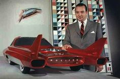 Ford Nucleon, 1958 This 3/8th-sized scale model concept car was to be powered by a nuclear reactor (uranium fission-heated twin steam turbines) in the rear and was supposed to go 5,000 miles without refueling.