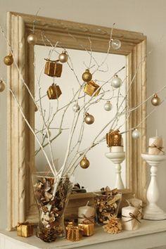 クリスマスツリー 枝 手作り - Google 検索