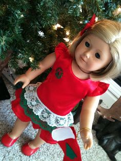 18 inch doll fits American Girl Red Satin by peggysprozac on Etsy, $15.00