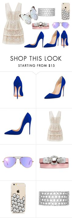 """""""Senza titolo #428"""" by virginia-san ❤ liked on Polyvore featuring beauty, BCBGMAXAZRIA, Ray-Ban and Alexander McQueen"""
