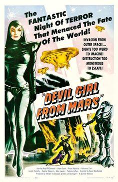 Patricia Laffan as Nyah, the alien commander from Mars in Devil Girl from Mars (1954)