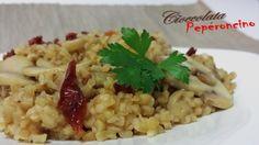 Il grano risottato funghi e pomodori secchi è un primo piatto ricco e gustoso, semplice da preparare e davvero profumato.