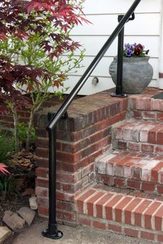 Front Steps Deck Railing | Pipe Railing | Pinterest | Front steps ...