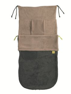 Simple Plain Charcoal / Pebble Fleece Buggysnuggle Footmuff