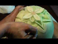 March 12 Honey Dew Flower Fruit Carving
