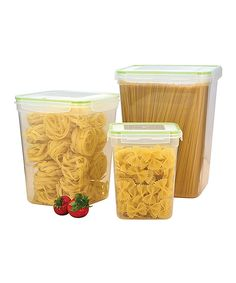 Take a look at this Click & Lock Six-Piece Tall Storage Container Set today!