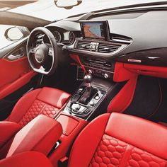 The brilliant 2016 Audi Sportback interior. Captured by this car looks as beautiful as it is powerful with a Twin Turbo tag an Audi lover! – Owner 2016 Audi – 2016 Audi First Drive Yahoo Avant in…AUDI – Audis present most powerful SUV . Audi Rs7 Sportback, Audi Q7, Audi Cars, Luxury Boat, Luxury Cars, Luxury Travel, Audi Rs7 Interior, Derby Cars, Car Goals