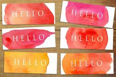 Fiery Hello - Mini Business Cards ~ Business Card Templates on Creative Market