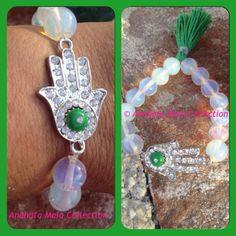 Opal Moonstone Hamsa bracelet - dailyetsysales on Etsy, 15,00€
